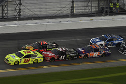 Ryan Blaney, Team Penske Ford Fusion, Martin Truex Jr., Furniture Row Racing Toyota, Kurt Busch, Stewart-Haas Racing Ford Fusion, Denny Hamlin, Joe Gibbs Racing Toyota