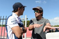 Felipe Massa, Williams e Fernando Alonso, McLaren