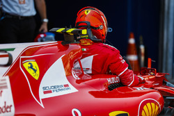 Il poleman Kimi Raikkonen, Ferrari