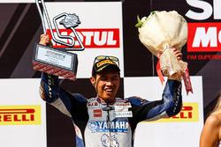 Podium: segundo, Decha Kraisart, Yamaha Thailand Racing Team