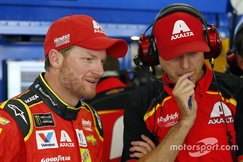 Dale Earnhardt Jr., Hendrick Motorsports Chevrolet and Greg Ives