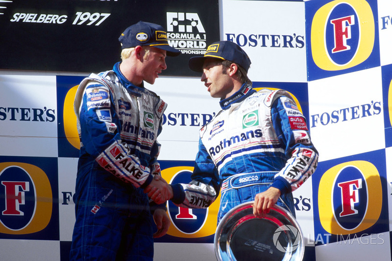1. Jacques Villeneuve, Williams; 3. Heinz-Harald Frentzen, Williams