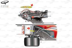 Ferrari F138 rear suspension and gearbox design