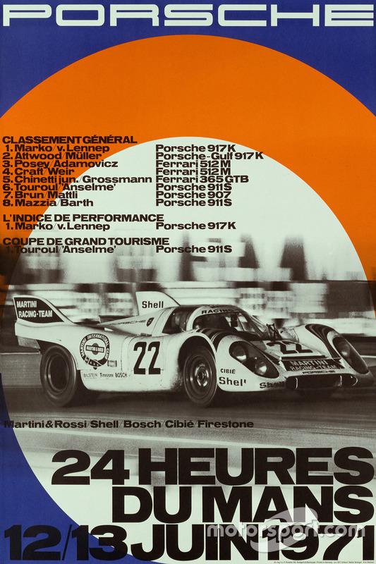 Poster Porsche 24h de Le Mans 1971