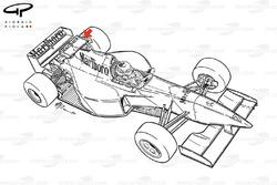McLaren MP4-10 rear winglet