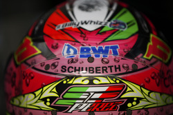 El casco de Sergio Pérez, Force India