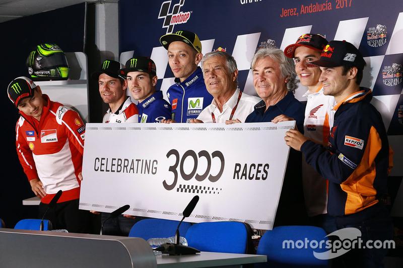 Гонщики настоящего и прошлого: 3000-й Гран При в истории MotoGP