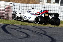 Авария Лэнса Стролла, Williams FW40