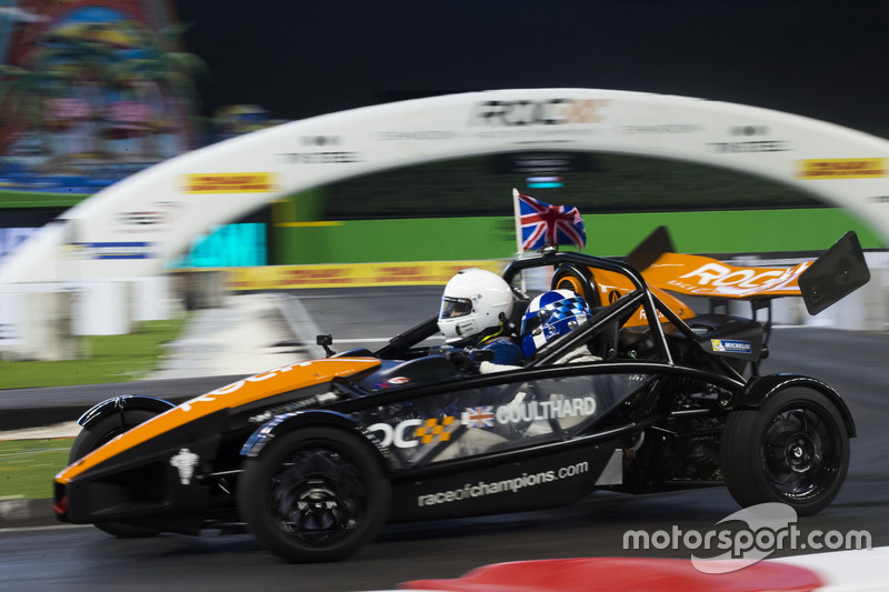 David Coulthard in de Ariel Atom Cup