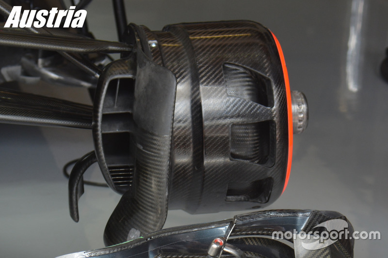 McLaren, brake duct Austrian GP