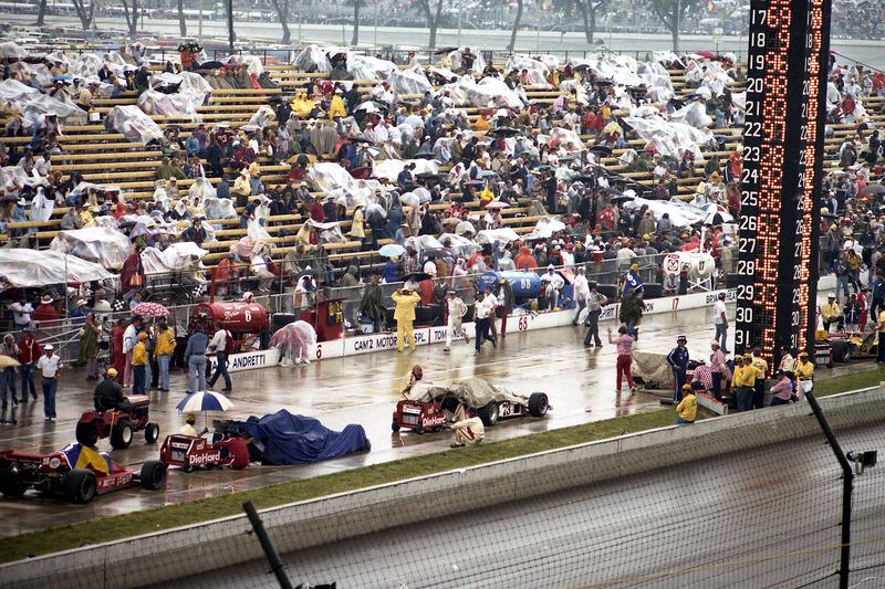 Rain during the race