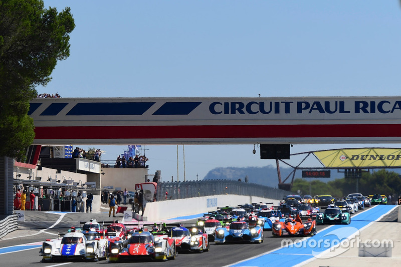 Start: #46 Thiriet by TDS Racing Oreca 05 - Nissan: Pierre Thiriet, Mathias Beche, Mike Conway leads