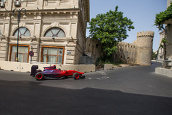 Gulhuseyn Abdullayev driving around the Baku City Circuit