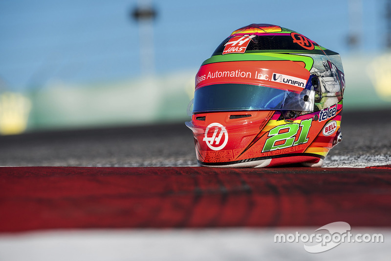 El casco edición especial que utilizará Esteban Gutiérrez, Haas F1 Team para el GP de México