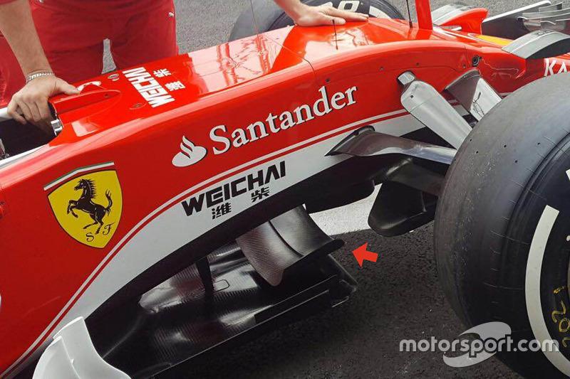 Ferrari SF16-H: Splitter-Winglet