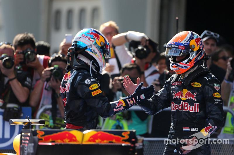 2. Platz Max Verstappen, Red Bull Racing und Sieger Daniel Ricciardo, Red Bull Racing