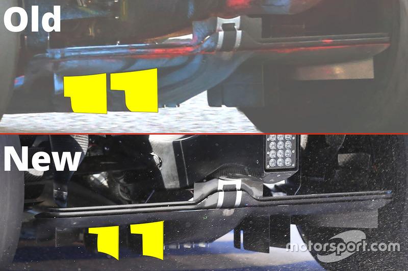 McLaren diffuser comparison