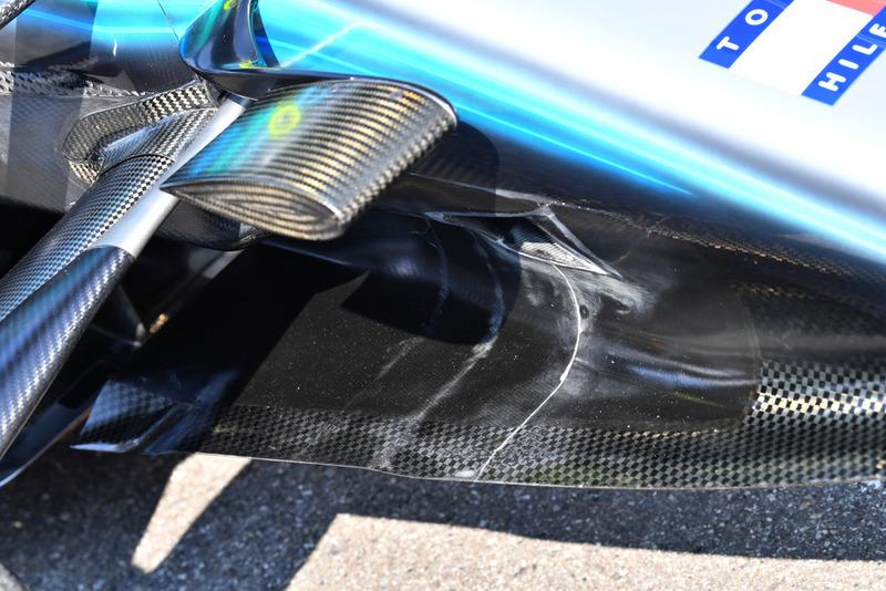 Détails du nez de la Mercedes AMG F1 W09