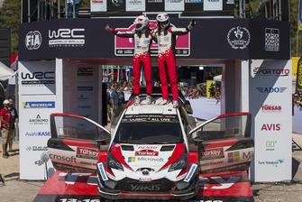 Les vainqueurs Ott Tänak, Martin Järveoja, Toyota Gazoo Racing WRT Toyota Yaris WRC