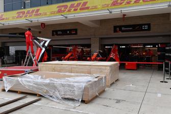 Ferrari garage preparations