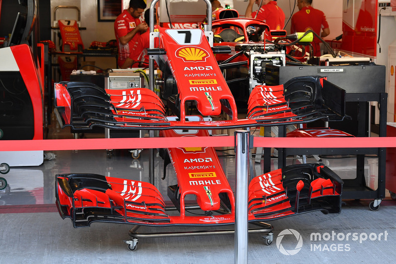 Ferrari SF71H nose and front wings