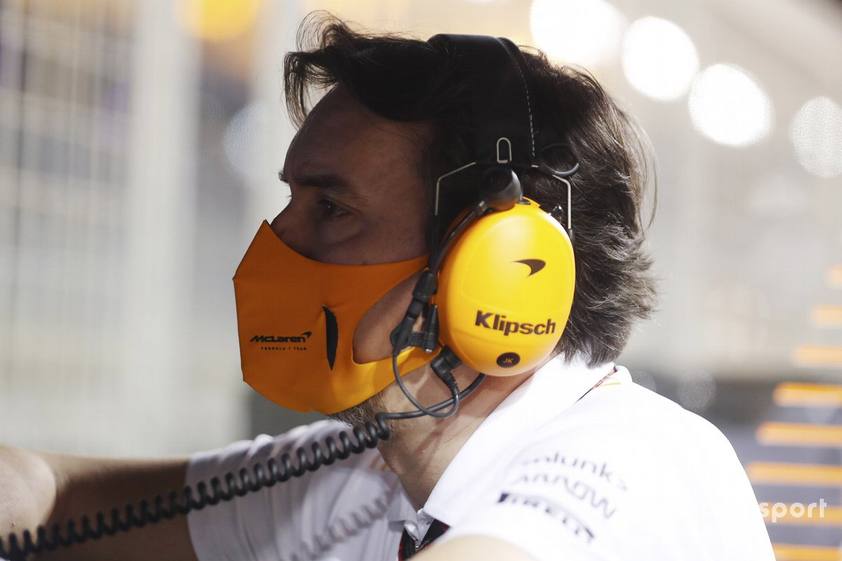 James Key, Technical Director, McLaren, on the pit wall