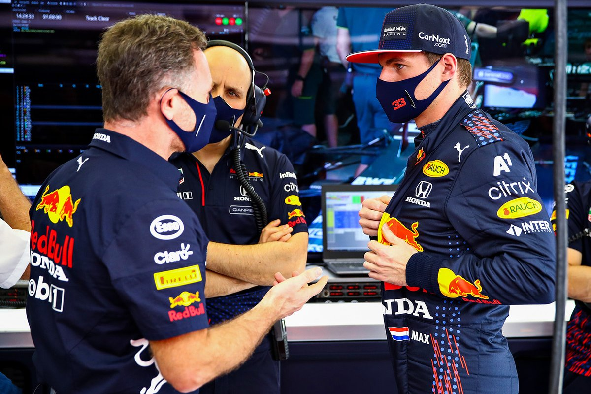 Max Verstappen, Red Bull Racing avec Christian Horner, Team Principal, Red Bull Racing