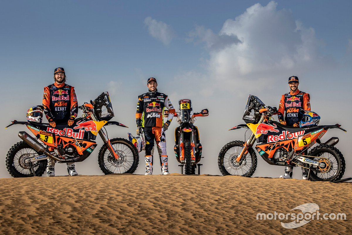 Toby Price, Sam Sunderland, Matthias Walkner, Red Bull KTM Factory Racing