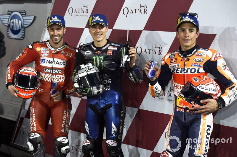 Andrea Dovizioso, Ducati Team, Maverick Vinales, Yamaha Factory Racing, Marc Marquez, Repsol Honda Team