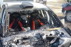 Последствия столкновения машин Алексея Лукьянюка и Вячеслава Кучерова на тестах в Псковской области