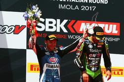 1.Kenan Sofuoglu, Kawasaki Puccetti Racing; 2. Lucas Mahias, GRT Yamaha Official WorldSSP Team