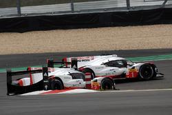 #2 Porsche Team Porsche 919 Hybrid: Timo Bernhard, Earl Bamber, Brendon Hartley, #1 Porsche Team Porsche 919 Hybrid: Neel Jani, Andre Lotterer, Nick Tandy