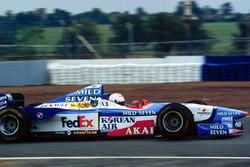 Martin Brundle tests the Benetton Formula 1 car