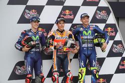 Qualifying: pole sitter Marc Marquez, Repsol Honda Team, second place Maverick Viñales, Yamaha Factory Racing, third place Valentino Rossi, Yamaha Factory Racing