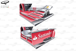 Ferrari F138 front wing without endplate