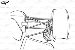 Торцевая пластина переднего антикрыла Williams FW14 1991 года