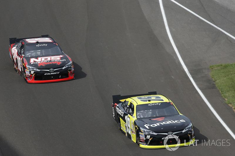 Matt Tifft, Joe Gibbs Racing Toyota Kyle Busch, Joe Gibbs Racing Toyota