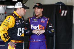 Ryan Newman, Richard Childress Racing Chevrolet, Denny Hamlin, Joe Gibbs Racing Toyota, Kurt Busch,