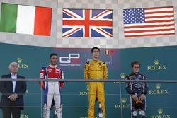 Podium: winner Jack Aitken, Arden International, second place Antonio Fuoco, Trident, third place Santino Ferrucci, DAMS