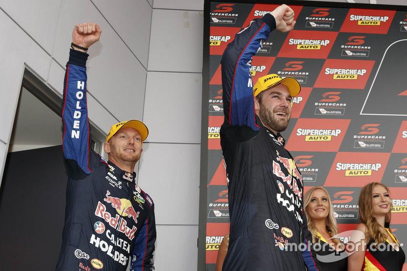 Podium: 2. Shane van Gisbergen, Alexander Premat, Triple Eight Race Engineering, Holden