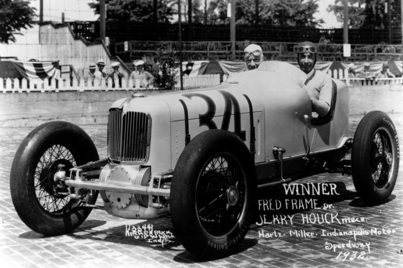 Ganador de la carrera Fred Frame