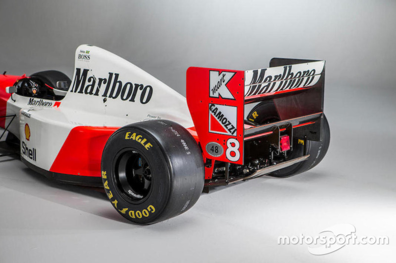 El McLaren-Cosworth Ford MP4/8A de Ayrton Senna
