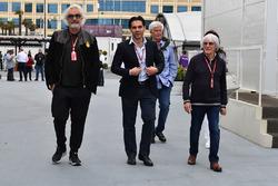 Flavio Briatore, Arif Rahimov, promoteur Baku Street et Bernie Ecclestone