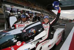 Race winners #8 Toyota Gazoo Racing Toyota TS050-Hybrid: Sébastien Buemi, Anthony Davidson, Kazuki Nakajima