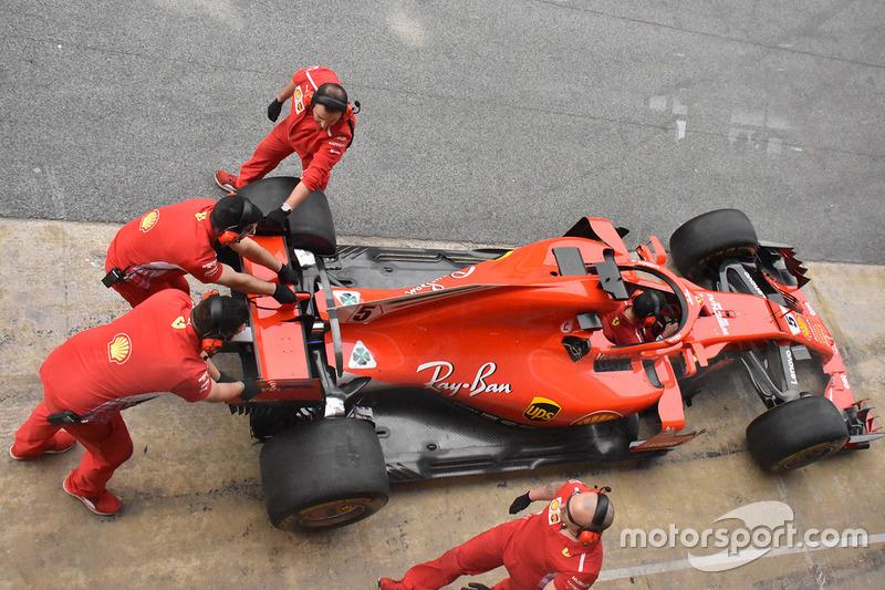 El Ferrari SF71H de Sebastian Vettel