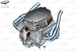 McLaren MP4-24 2009 Mercedes engine