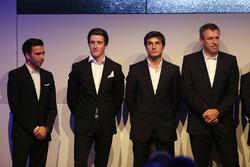 Line-up 2018: Philipp Eng, Joel Eriksson, Bruno Spengler en Bart Mampaey, teambaas BMW Team RBM