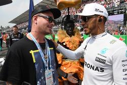 Lewis Hamilton, Mercedes AMG F1 and J Balvin, Rapper