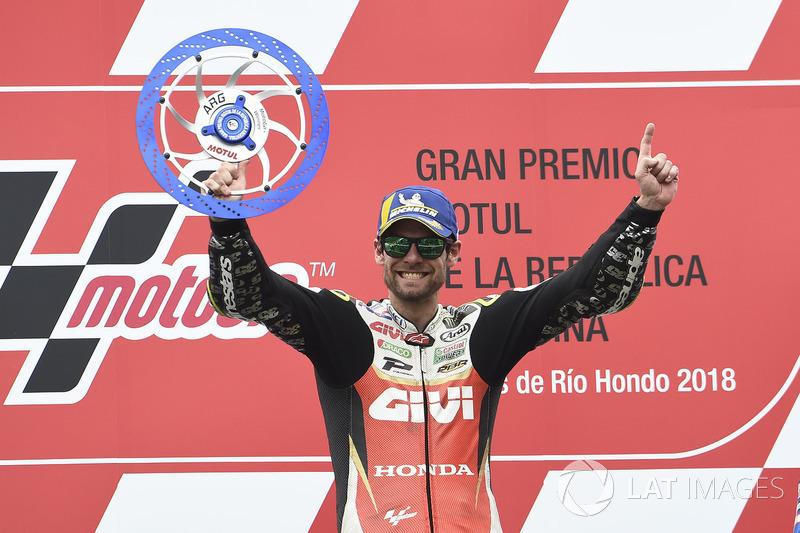 Race winner Cal Crutchlow, Team LCR Honda