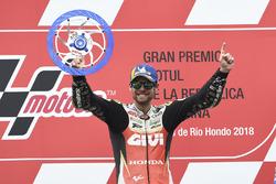Cal Crutchlow, Team LCR Honda, vainqueur de la course